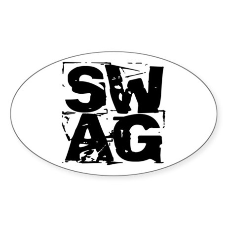 distressed SWAG Sticker (Oval)