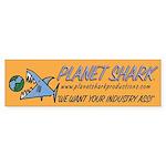 Shark's Bumper Sticker/gold
