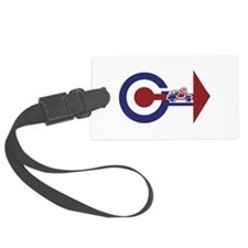 Retro Mod Target and scooter Arrows Luggage Tag