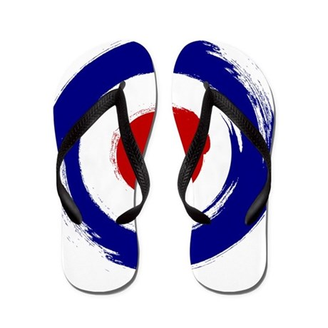Paint Stroke Mod Target Design Flip Flops By Scootertees