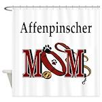affenpinscher mom.png Shower Curtain