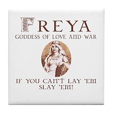 Freya Love and War Tile Coaster