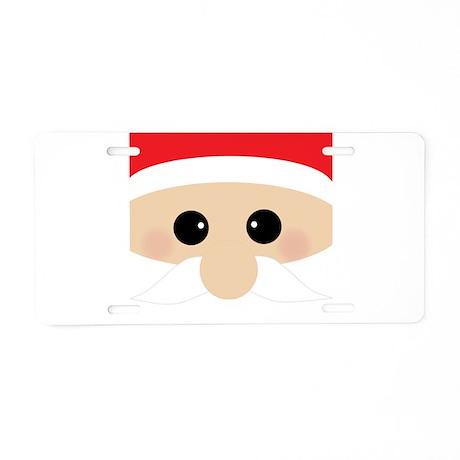 Santas Closeup Funny Aluminum License Plate