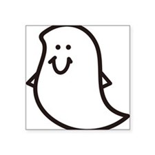 "Ghost Square Sticker 3"" x 3"""