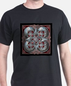 Silver & Red Celtic Tapestry T-Shirt