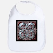 Silver & Red Celtic Tapestry Bib