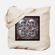 Silver & Red Celtic Tapestry Tote Bag