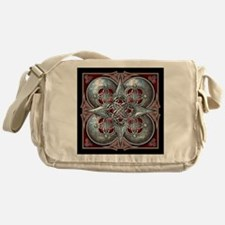 Silver & Red Celtic Tapestry Messenger Bag