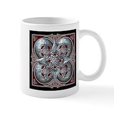 Silver & Red Celtic Tapestry Mug