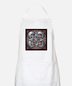 Silver & Red Celtic Tapestry Apron