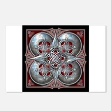 Silver & Red Celtic Tapestry Postcards (Package of