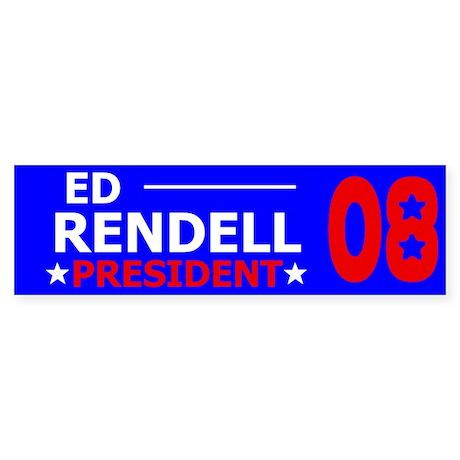 Elect Ed Rendell Bumper Sticker