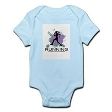 Running Cheaper than Therapy Infant Bodysuit