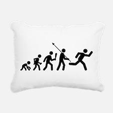 Running Rectangular Canvas Pillow