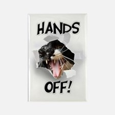 Hands Off Cat Rectangle Magnet
