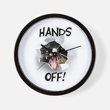 Hands Off Cat Wall Clock