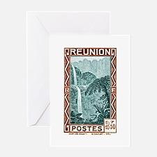 1940 Reunion Bridal Falls Postage Stamp Greeting C