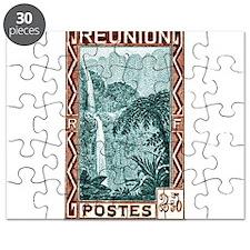 1940 Reunion Bridal Falls Postage Stamp Puzzle