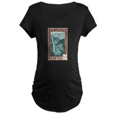 1940 Reunion Bridal Falls Postage Stamp T-Shirt
