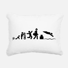 Physically Challenged Swimmer Rectangular Canvas P