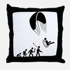 Paramotoring Throw Pillow