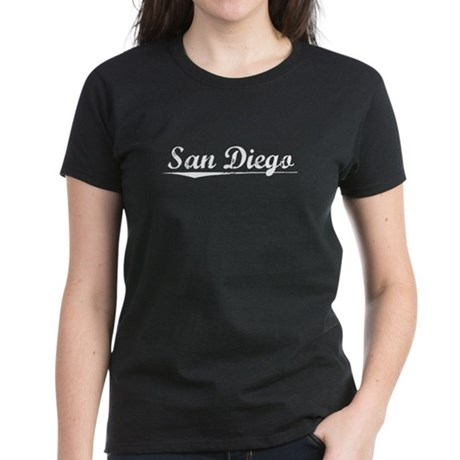 Aged, San Diego Women's Dark T-Shirt