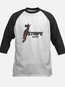 C StripeAPose Kids Baseball Jersey