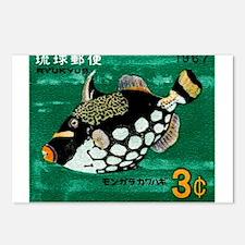 1967 Ryukyu Islands Triggerfish Postage Stamp Post
