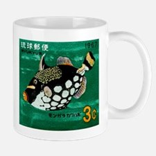 1967 Ryukyu Islands Triggerfish Postage Stamp Mug
