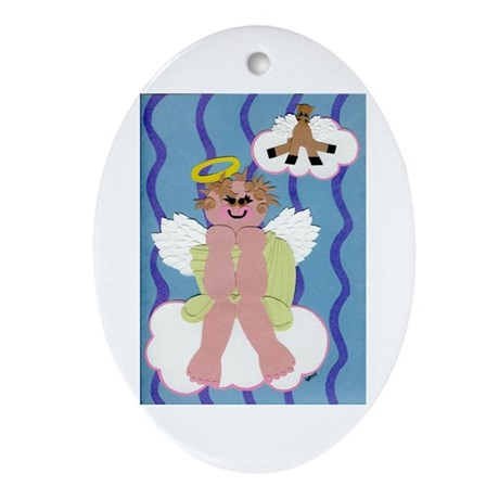 Bitty Angel Ornament (Oval)