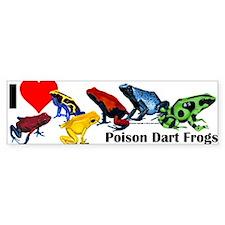 Poison Dart Frog Bumper Bumper Sticker