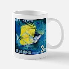 1967 Ryukyu Islands Forcepsfish Stamp Mug