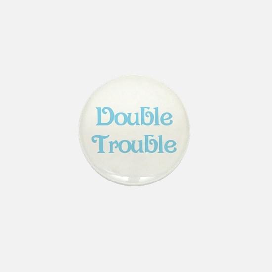 Double Trouble Blue Mini Button