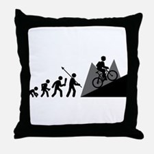 Mountain Biking Throw Pillow