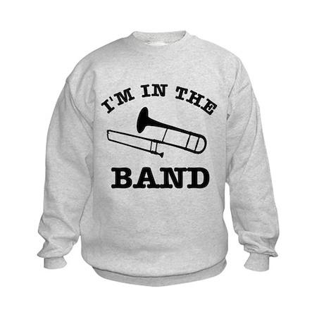 Trombone Gift Items Kids Sweatshirt
