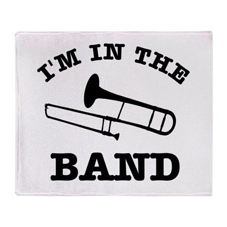 Trombone Gift Items Throw Blanket