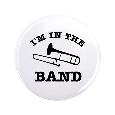"""Trombone Gift Items 3.5"""" Button (100 pack)"""