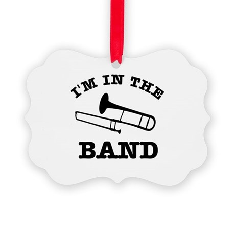 Trombone Gift Items Picture Ornament