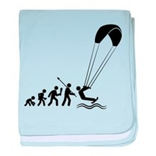 Kiteboarding baby blanket
