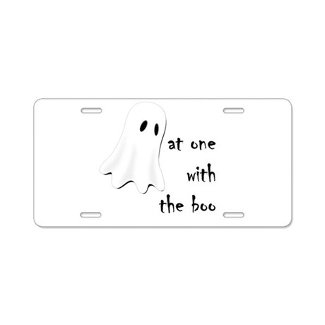 at one with the boo -- dark Aluminum License Plate