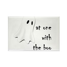 at one with the boo -- dark Rectangle Magnet