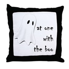 at one with the boo -- dark Throw Pillow