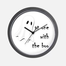 at one with the boo -- dark Wall Clock