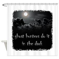 in the dark Shower Curtain