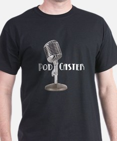 Podcaster 2 -  Black T-Shirt
