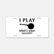 Cool Banjo Designs Aluminum License Plate