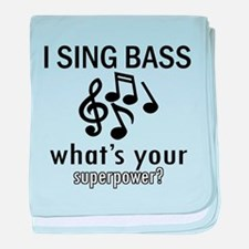Cool Bass Designs baby blanket