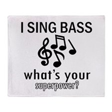 Cool Bass Designs Throw Blanket