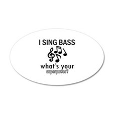 Cool Bass Designs Wall Decal