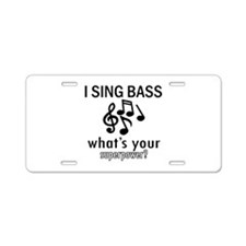 Cool Bass Designs Aluminum License Plate